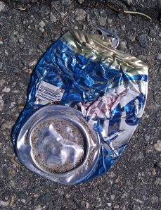 crushed can of bud lite