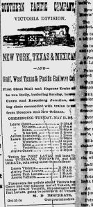 Train Timetable, 1888